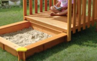 Детское счастье своими руками: песочницы (90 фото-идей)